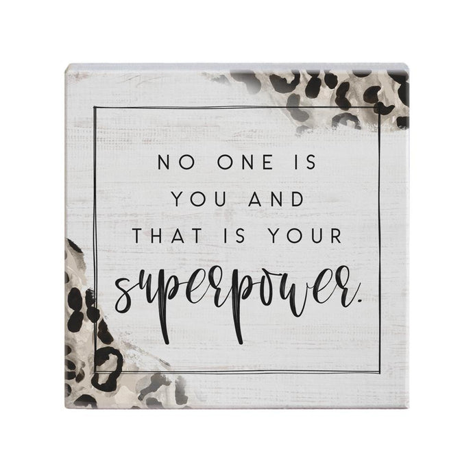 Your Superpower Leopard Small Square