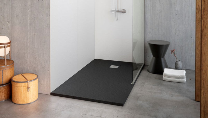 Pack Receveur + Bonde D90 ALTERNA DAILY'O ardoise anthracite 100*80min. - Besoin D'Habitat