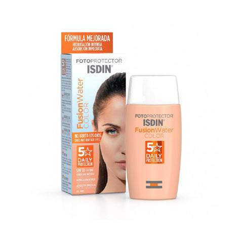 Fotoprotector Fusion Water Color/Tinted  SPF 50+  acabado seco/ oil free  50ml