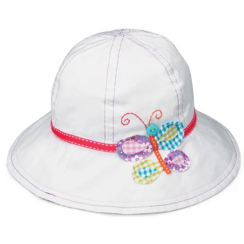 Hat Sophia White Butterfly