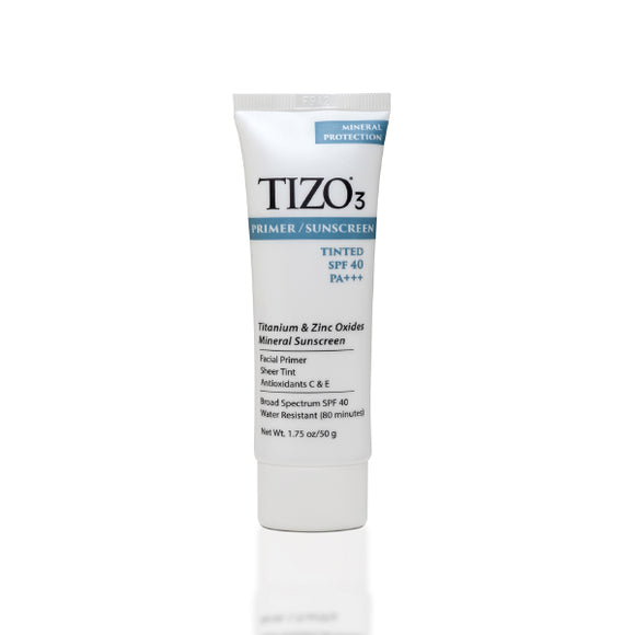 Tizo 3 Primer/Sunscreen Sheer Tint SPF 40 Water Resistent (80 minutes) Mineral 50g/1.75 oz.