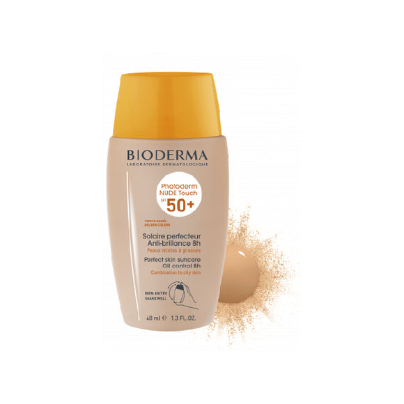 Photoderm Nude Touch SPF 50+ Golden Color Very water resistant oil control 8HR 40ml/ 1.33 oz