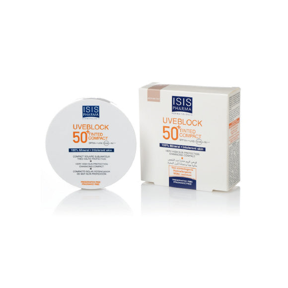 Uveblock SPF 50+ Tinted Compact Medium/lighter tone. 10g