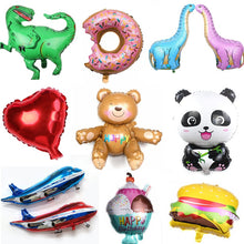 Load image into Gallery viewer, Large Size 3D Bear Panda Dinosaur Donut Cartoon Animal Party Toys Balloons