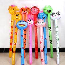 Load image into Gallery viewer, Long Cartoon Random Animal Balloon Inflatable Animal Inflatable Hammer