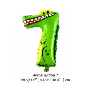6 Inches Animal Cartoon Number Foil Balloons