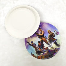 Load image into Gallery viewer, Fortnite birthday decoration supplies tableware