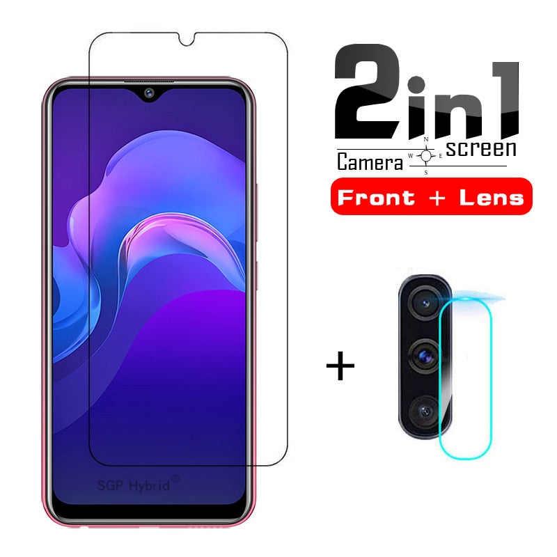 2in1 HD Camera Lens Protective glass & Screen Protector For Vivo Y12 Y17 Protective Glass For vivo y12 y17 y 12 17 Tempered Glas