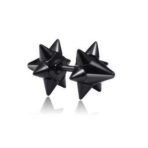1 pair Punk Black Multiple Styles Stainless/Titanium Steel Stud Earrings For Men and Women Gothic