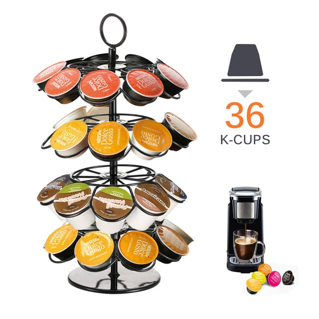 40 Pods Coffee Capsule Organizer Storage Stand Practical Coffee Drawers Capsules Holder For Nespresso Coffee Capsule Shelves