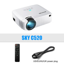 Load image into Gallery viewer, BYINTEK C520 2020 latest Mini Projector,Portable LED for Cell Phone 1080P 3D 4K home movie theater (Optional Android 10 TV Box)