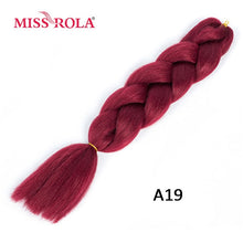 Load image into Gallery viewer, Miss Rola 100g 24 Inch Single Ombre Color Synthetic Hair Extension Crochet Twist Jumbo Braiding Kanekalon Hair