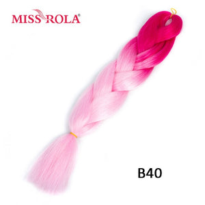 Miss Rola 100g 24 Inch Single Ombre Color Synthetic Hair Extension Crochet Twist Jumbo Braiding Kanekalon Hair