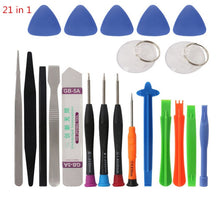 Load image into Gallery viewer, 21 in 1 Mobile Phone Repair Tools Kit Spudger Pry Opening Tool Screwdriver Set for iPhone X 8 7 6S 6 Plus 11 Pro XS Hand Tools