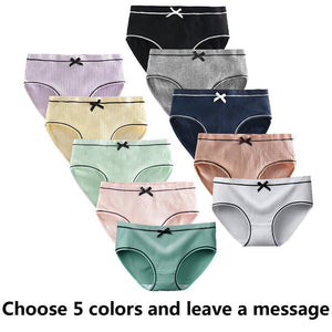 5 Pcs/Lot Girls Cotton Underwear