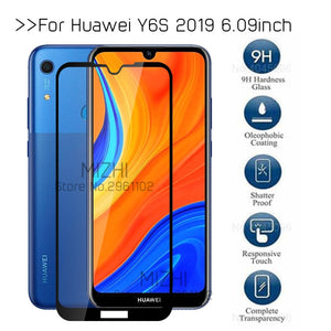 protective glass for huawei y6s jat-l41 tempered glass on huwei huaweii y6 s y6s y 6s 6.09'' original screen protector film