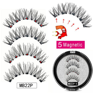 MB Magnetic Eyelashes with 5 Magnets Handmade Reusable 3D Mink