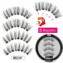 Load image into Gallery viewer, MB Magnetic Eyelashes with 5 Magnets Handmade Reusable 3D Mink