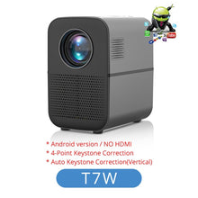 Load image into Gallery viewer, TouYinger T7 HD LED Home projector Bluetooth, 1280x720 support Full HD video USB beamer for Cinema, 4000 lumens Android Optional