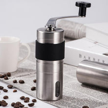 Load image into Gallery viewer, Silver Coffee Grinder Mini Stainless Steel Hand Manual Handmade Coffee Bean Burr Grinders Mill Kitchen Tool Grinders