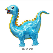 Load image into Gallery viewer, 1pcs 4D dinosaur balloons foil standing green dinosaur Red dragon birthday deco party supplies boy kids toys helium globals