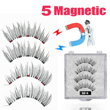 Load image into Gallery viewer, LEKOFO New 5 Magnetic Eyelashes 3D Magnet Mink Lashes
