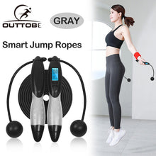 Load image into Gallery viewer, Outtobe Smart Jump Rope Fitness Sport Skipping Ropes with Anti-Slip Hand Grip with Anti-Slip Hand Grip with LCD Screen Showing