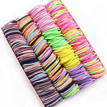 Load image into Gallery viewer, New 100PCS/Lot Girls Candy Colors Nylon 3CM Rubber Bands