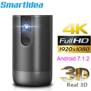 Smartldea D29 native1920x1080 Full HD Projector Android 7.0 (2G+16G) 5G wifi DLP Proyector support 4K 3D ZOOM video game Beamer