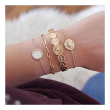 Load image into Gallery viewer, 31 Styles Boho Mixed Leaves Letter Map Geometric Crystal Infinity Bracelet