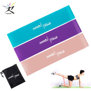 Yoga Resistance Loop Bands Elastic Fitness Gum Expander Bands Outdoor Home Exercise Training  Workout Equipment Booties Bands