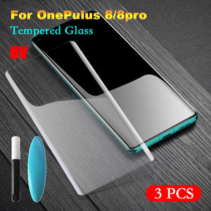 Arvin Tempered UV Glass for OnePlus 8 Pro Screen Protector for OnePlus 8 8Pro Full Surface Coverage Screen Film