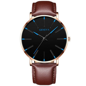 2020 Minimalist Men's Fashion Ultra Thin Watches Simple Men Business