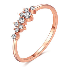 Load image into Gallery viewer, Rose Gold Color Twist Classical Cubic Zirconia Wedding Engagement Ring for Woman Girls Austrian Crystals Gift Rings Bague Femme