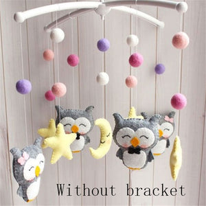 Baby Mobile Rattles Toys 0-12 Months for Baby Newborn Crib Bed Bell Oyuncak Toddler Rattles Carousel for Cots Kids Handmade Toy