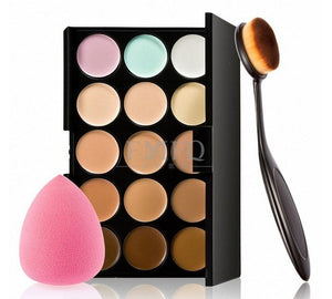 15 color Concealer Contouring Makeup Kit