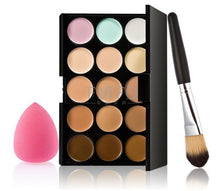 Load image into Gallery viewer, 15 color Concealer Contouring Makeup Kit