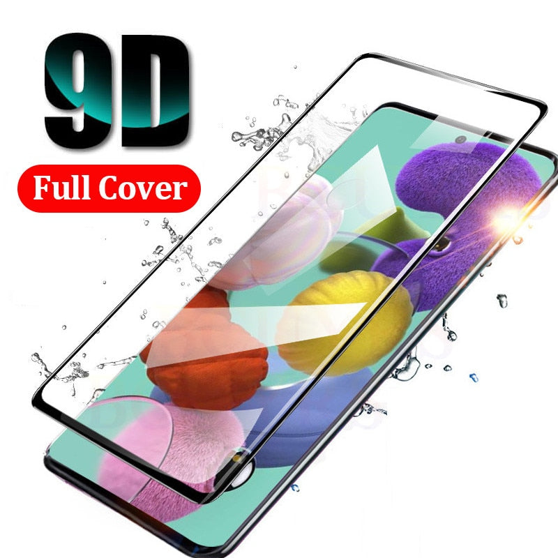 Tempered Glass For Samsung A51 A71 Screen Protector For Samsung Galaxy A 51 71 SM-A515F A515 SM-A715F Full Cover Safety glass 9H