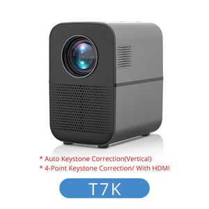 TouYinger T7 HD LED Home projector Bluetooth, 1280x720 support Full HD video USB beamer for Cinema, 4000 lumens Android Optional