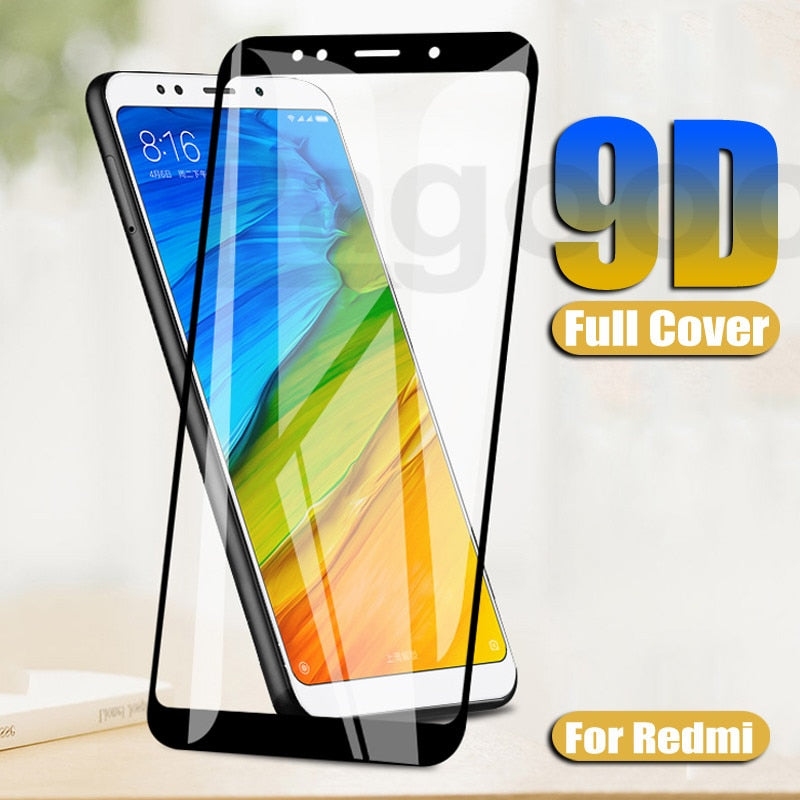 9D Premium Tempered Glass For Xiaomi Redmi 5 Plus 5A 4X 4A S2 GO 6 6A Redmi Note 5 5A Pro Screen Protector Protective Glass Film