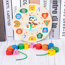 Load image into Gallery viewer, Colorful Baby Wooden Blocks Toys Music Baby Rattles Toys Graphic Cognition Early Educational Toys For Baby 0-12 Months