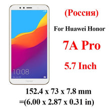 Load image into Gallery viewer, honor 7a Glass For huawei honor 7a pro tempered glass on honor 7 a 7apro a7 honor7a 5.7 5.45 display safety Glas protective Film
