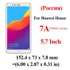 honor 7a Glass For huawei honor 7a pro tempered glass on honor 7 a 7apro a7 honor7a 5.7 5.45 display safety Glas protective Film