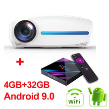 Load image into Gallery viewer, WZATCO C2 1920*1080P Full HD 200inch AC3 4D keystone LED Projector android 10.0 Wifi Portable 4K Home theater Beamer Proyector