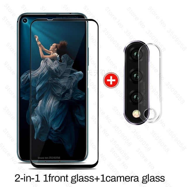 honor 20 pro glass 2-in-1 camera protector for huawei honor 20 glass protective film honor20 хонор 20pro yal-l21 yal-al10 6.26''