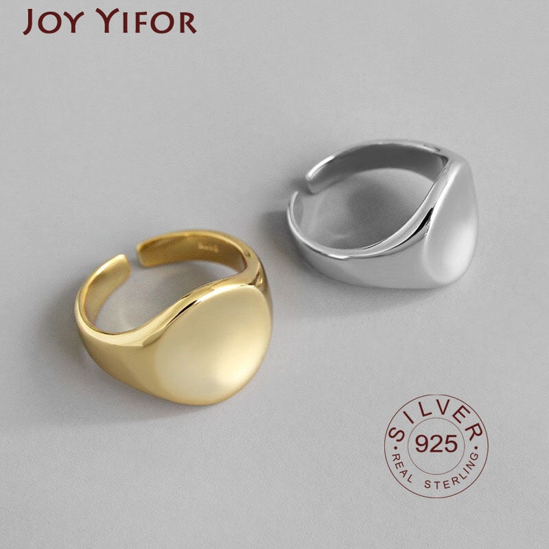 Bijoux 925 Sterling Silver Retro Rings for Women Gift Ladies Adjustable Size Antique Ring Joyas De Plata Anillos