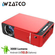 Load image into Gallery viewer, WZATCO T6 Android 10 WIFI Optional 3000lumen 720p HD Portable LED Projector HDMI Support 4K 1080p Home Theater Proyector Beamer