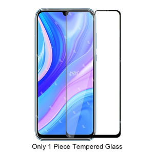 2in1 protective glass for huawei y8p y5p y7p y6p y6s y9s 2020 camera protector tempered glas on y 8p 5p 6p 7p 6s 9s film