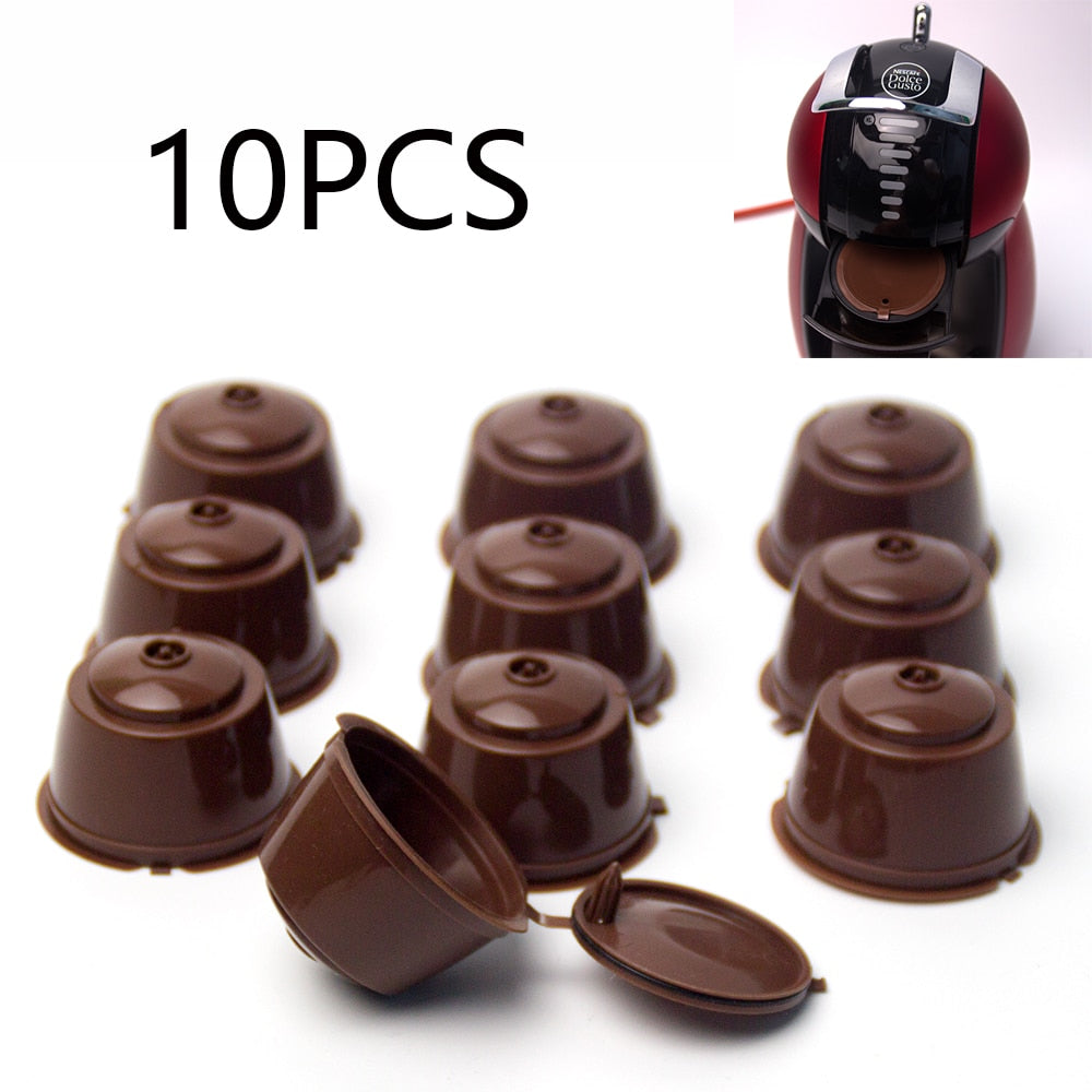 10PCS Refillable coffee pods for DOLCE GUSTO coffee capsules reusable coffee fiilter plastic