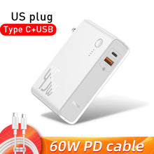 Load image into Gallery viewer, Baseus GaN Power Bank 10000mAh 2 in 1 USB Charger 45W PD Fast Charging Charger & Battery in one ForiP 11 Pro Laptop ForXiaomi